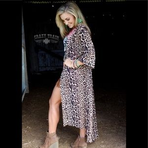 Crazy Train Leopard Dixie Duster One Size